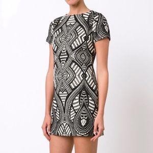 Alice + Olivia Geometric Pattern Mini Dress